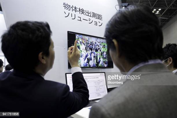 A deep learning solution technology by Hitachi ULSI Systems Co is displayed at the Artificial Intelligence Exhibition Conference in Tokyo Japan on...