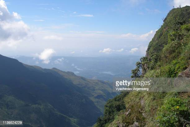 deep mountain valley in central sri lanka - argenberg stock pictures, royalty-free photos & images