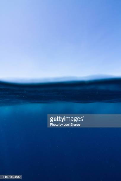 deep ocean water surface split - underwater stock pictures, royalty-free photos & images