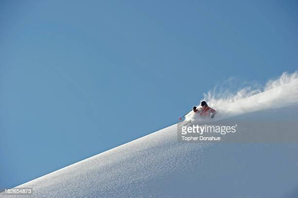 Deep powder on a 6000 foot ski run.