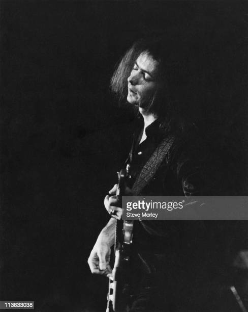 Deep Purple guitarist Ritchie Blackmore on stage during a live concert performance circa 1975