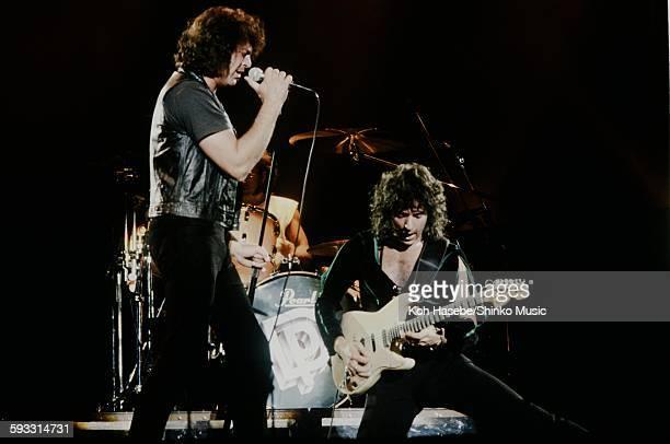 Deep Purple Ian Gillan and Ritchie Blackmore live at Nippon Budokan Tokyo May 1985