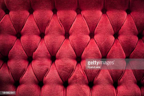 deep red quilted plush cushion - ornate stock pictures, royalty-free photos & images