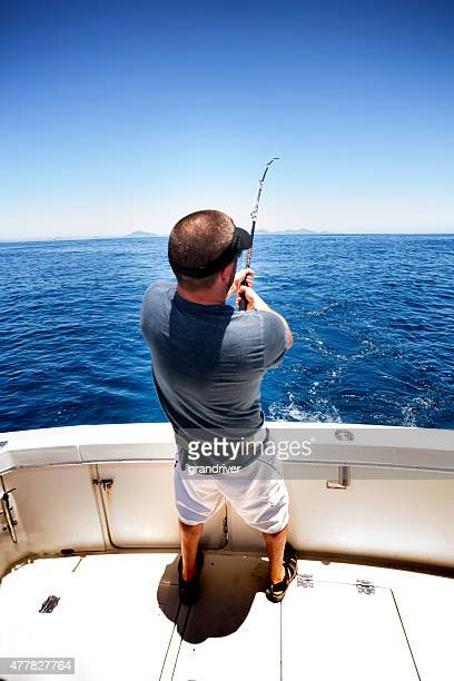 deep sea fisherman - big game fishing stock photos and pictures