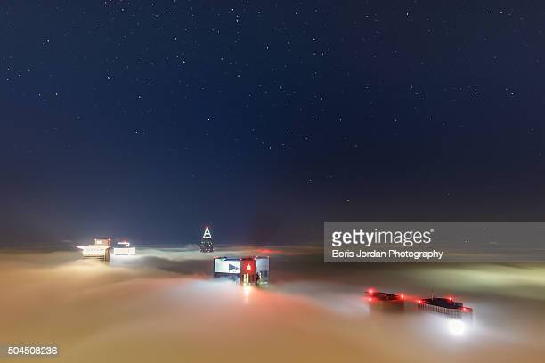 deep sky over frankfurt - nacht stock pictures, royalty-free photos & images