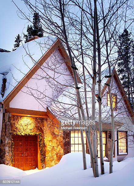Deep Snow in Front of Home in Winter