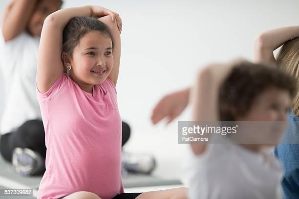 Profundidad de Yoga estiramientos durante