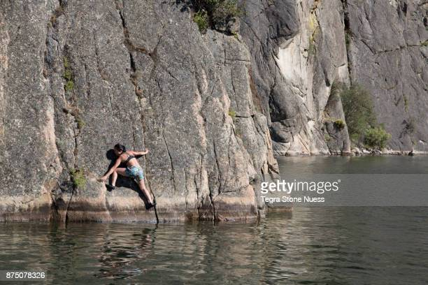 Deep Water Soloing at Banks Lake, WA