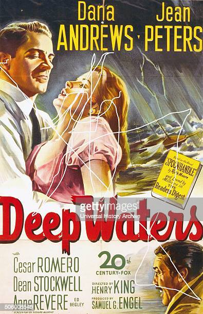 Deep Waters starring Dana Andrews and Jean Peters a 1948 drama film based on the 1946 novel Spoonhandle written by Ruth Moore