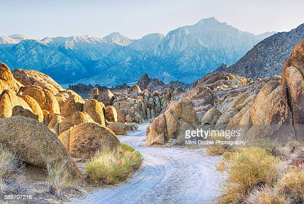 deep within the alabama hills - alabama hills stock photos and pictures