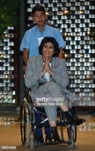 Deepa Malik during the dinner party hosted by Nita Ambani for Thomas Bach President of International Olympic Committee in Mumbai