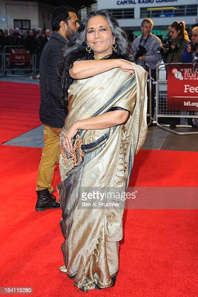 Deepa Mehta attends the premiere of 'Midnight's Children' during the 56th BFI London Film Festival at Odeon West End on October 14, 2012 in London,...