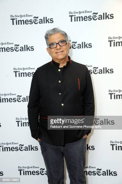 Deepak Chopra attends Deepak Chopra On 'You Are The Universe' At TimesTalksat Florence Gould Hall on March 27 2017 in New York City