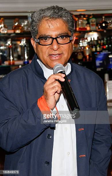 Deepak Chopra attends Hamptons Magazine And Morrocanoil Celebrate An Intimate Dinner With Deepak Chopra and Russell Simmons on August 27 2012 at...