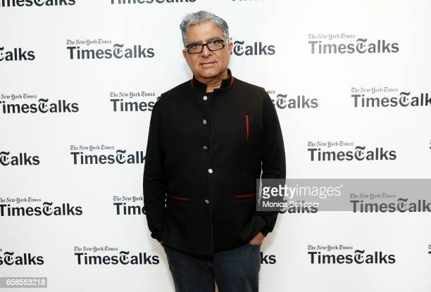 Deepak Chopra attends TimesTalks With Deepak Chopra at Florence Gould Hall on March 27 2017 in New York City