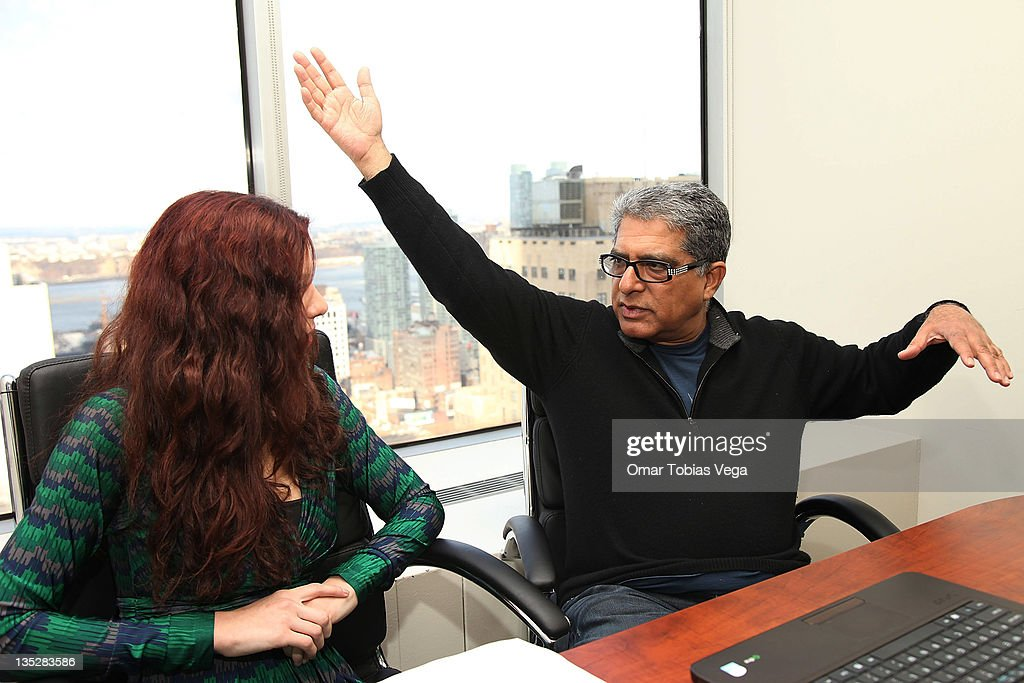 Deepak Chopra Press Reception : News Photo