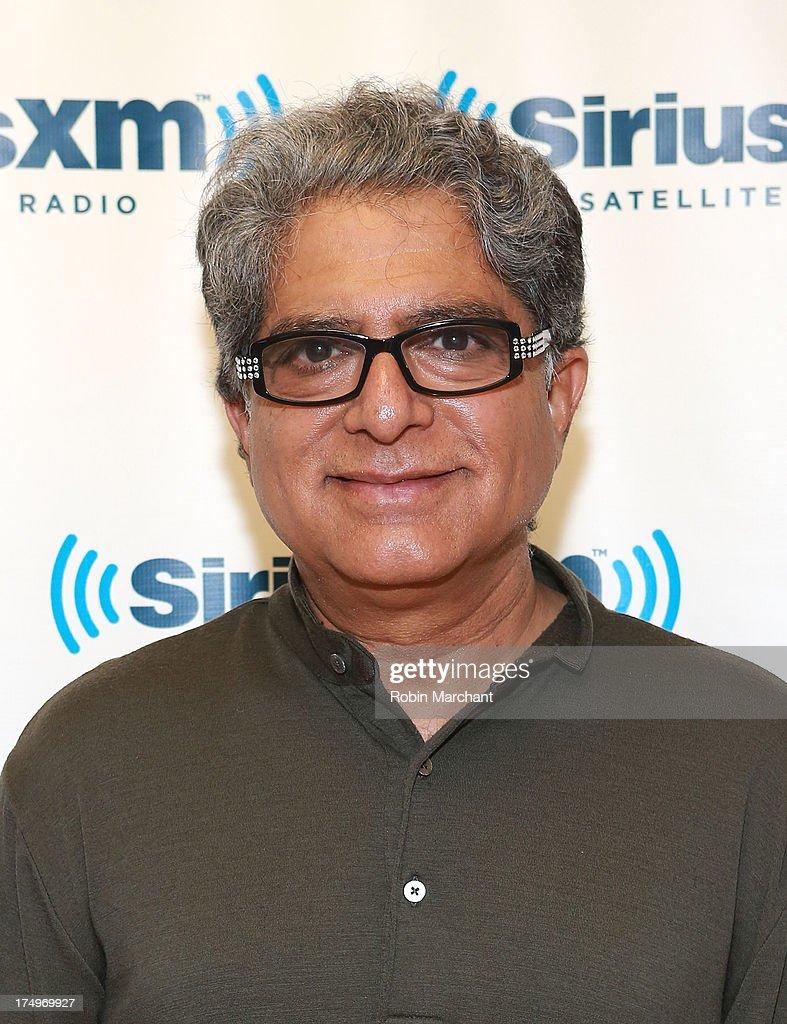 Deepak Chopra visits at SiriusXM Studios on July 29, 2013 in New York City.