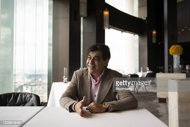 Deepak Ohri chief executive officer of Lebua Hotels Resorts Co speaks during an interview at the Mezzaluna restaurant in the Lebua at State Tower...