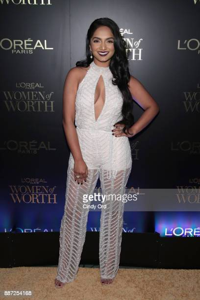 Deepica Mutyala attends the L'Oreal Paris Women of Worth Celebration 2017 on December 6 2017 in New York City