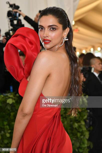 Deepika Padukon attends the Heavenly Bodies Fashion The Catholic Imagination Costume Institute Gala at The Metropolitan Museum of Art on May 7 2018...