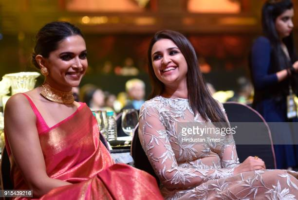 Deepika Padukone and Parineeti Chopra during Hindustan Times India's Most Stylish Awards at Yash Raj Films Private Limited on January 24 2018 in...