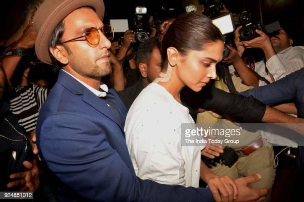 Deepika Padukone and Ranveer Singh at Anil Kapoor's House in Mumbai