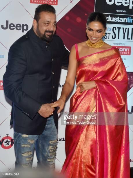 Deepika Padukone and Sanjay Dutt arrives at the HT Indias Most Stylish Awards 2018 in Mumbai