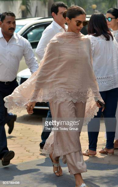Deepika Padukone arrives at Celebration Sports Club to pay last respects to Sridevi in Mumbai