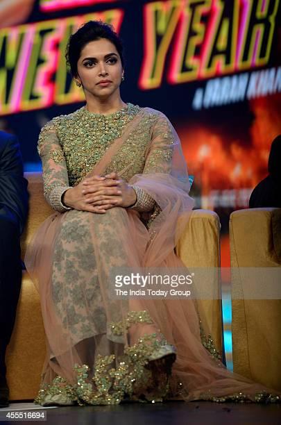 Deepika Padukone at the music launch of the movie Happy New Year in Mumbai