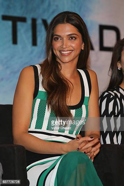 """Deepika Padukone attends a press conference to promote the Paramount Pictures film """"xXx: Return of Xander Cage"""" at St. Regis Hotel on January 5, 2017..."""