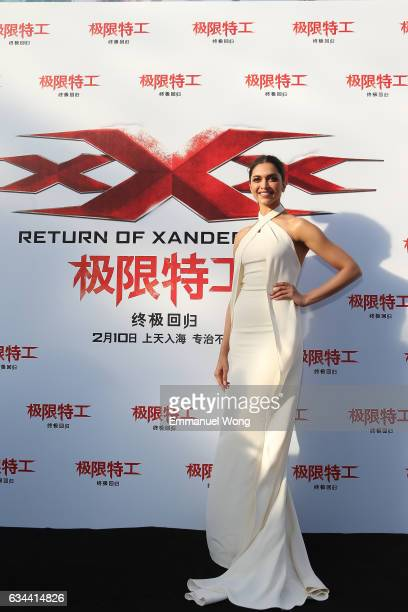 Deepika Padukone attends a press conference/red carpet for the Paramount Pictures title xXx Return of Xander Cage on February 9 2017 in Beijing China