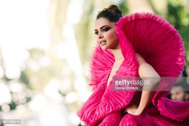 Deepika Padukone attends attend the screening of 'Ash Is The Purest White ' during the 71st annual Cannes Film Festival at on May 11 2018 in Cannes...