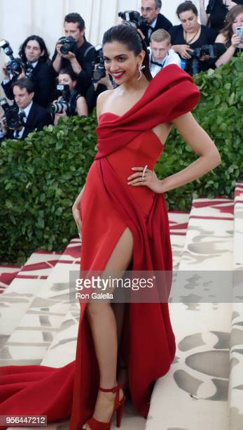 Deepika Padukone attends Heavenly Bodies Fashion The Catholic Imagination Costume Institute Gala on May 7 2018 at the Metropolitan Museum of Art in...