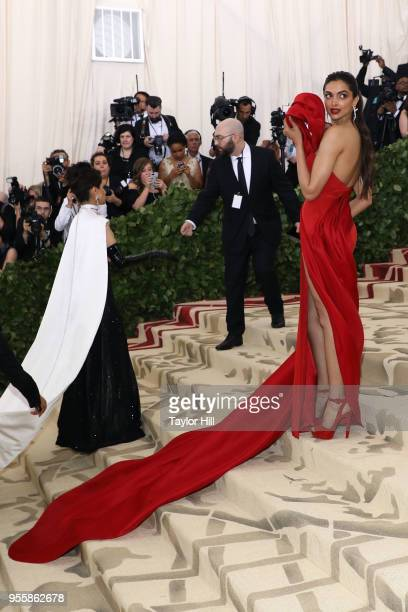 Deepika Padukone attends Heavenly Bodies Fashion the Catholic Imagination the 2018 Costume Institute Benefit at Metropolitan Museum of Art on May 7...