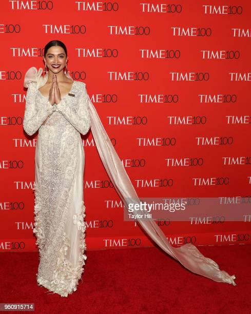Deepika Padukone attends the 2018 Time 100 Gala at Frederick P. Rose Hall, Jazz at Lincoln Center on April 24, 2018 in New York City.