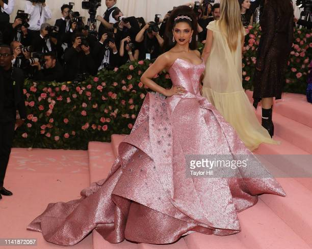 Deepika Padukone attends the 2019 Met Gala celebrating Camp Notes on Fashion at The Metropolitan Museum of Art on May 6 2019 in New York City