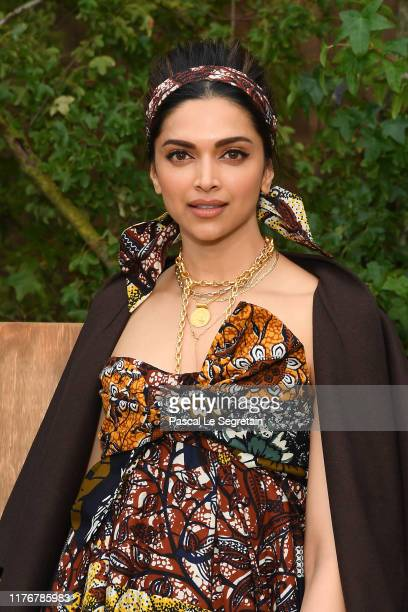 Deepika Padukone attends the Christian Dior Womenswear Spring/Summer 2020 show as part of Paris Fashion Week on September 24, 2019 in Paris, France.