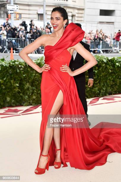 Deepika Padukone attends the Heavenly Bodies: Fashion & The Catholic Imagination Costume Institute Gala at The Metropolitan Museum of Art on May 7,...