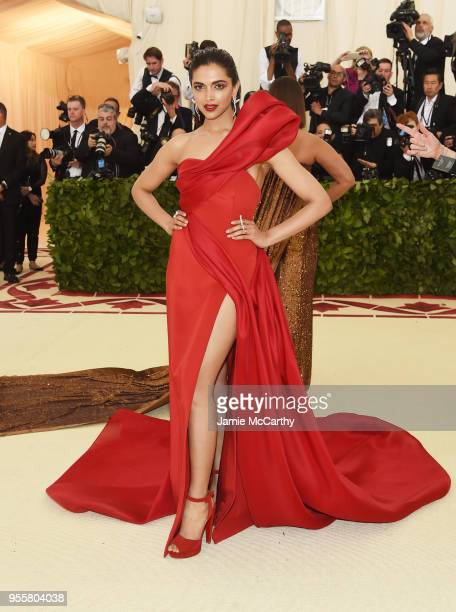 Deepika Padukone attends the Heavenly Bodies Fashion The Catholic Imagination Costume Institute Gala at The Metropolitan Museum of Art on May 7 2018...