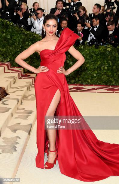 Deepika Padukone attends the Heavenly Bodies Fashion The Catholic Imagination Costume Institute Gala at Metropolitan Museum of Art on May 7 2018 in...