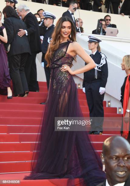 Deepika Padukone attends the 'Ismael's Ghosts ' screening and Opening Gala during the 70th annual Cannes Film Festival at Palais des Festivals on May...