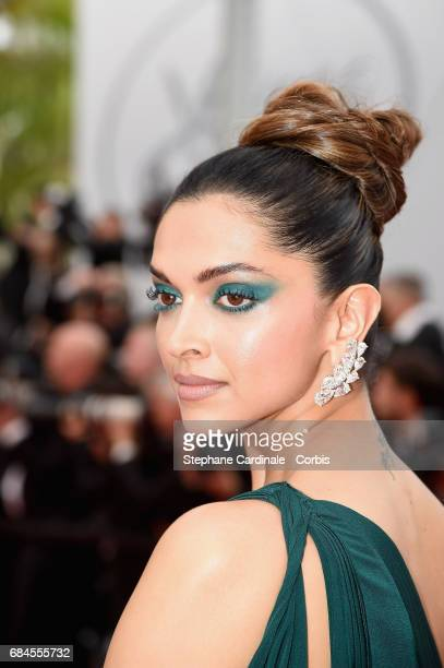 Deepika Padukone attends the 'Loveless ' premiere during the 70th annual Cannes Film Festival at Palais des Festivals on May 18 2017 in Cannes France