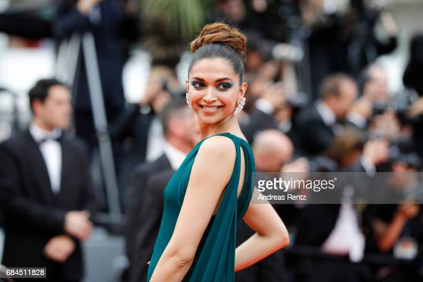 Deepika Padukone attends the Loveless screening during the 70th annual Cannes Film Festival at Palais des Festivals on May 18 2017 in Cannes France