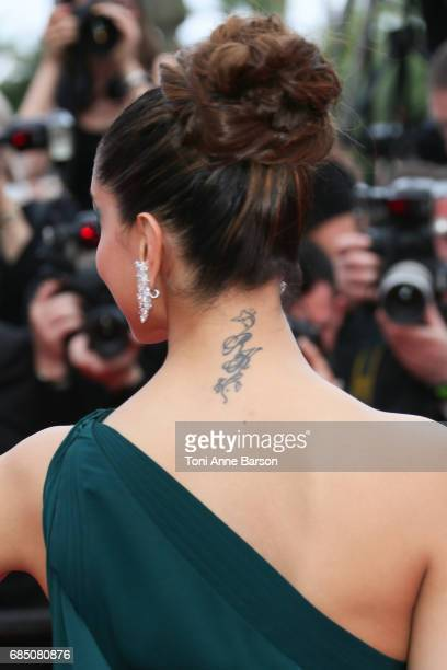 Deepika Padukone attends the 'Nelyobov ' screening during the 70th annual Cannes Film Festival at Palais des Festivals on May 18 2017 in Cannes France
