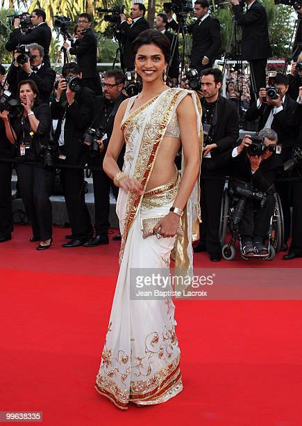 Deepika Padukone attends the Premiere of 'On Tour' at the Palais des Festivals during the 63rd Annual International Cannes Film Festival on May 13...