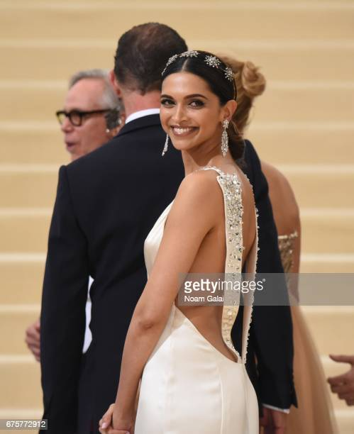 Deepika Padukone attends the 'Rei Kawakubo/Comme des Garcons Art Of The InBetween' Costume Institute Gala at Metropolitan Museum of Art on May 1 2017...