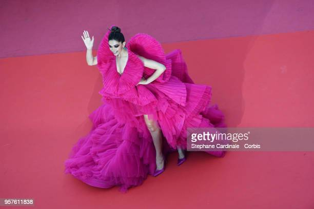 Deepika Padukone attends the screening of 'Ash Is The Purest White ' during the 71st annual Cannes Film Festival at Palais des Festivals on May 11...