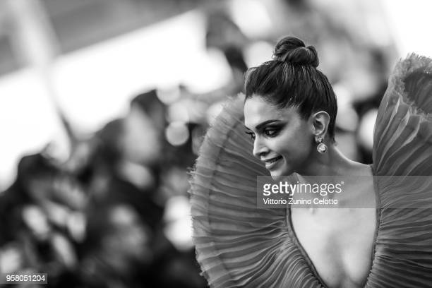 Image has been digitally retouched Deepika Padukone attends the screening of 'Ash Is The Purest White ' during the 71st annual Cannes Film Festival...