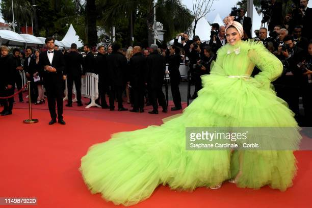 Deepika Padukone attends the screening of Pain And Glory during the 72nd annual Cannes Film Festival on May 17 2019 in Cannes France