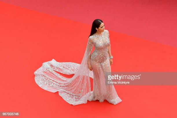 Deepika Padukone attends the screening of Sorry Angel during the 71st annual Cannes Film Festival at Palais des Festivals on May 10 2018 in Cannes...